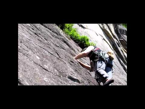 "Cathedral Ledge Rock Climbing - North Conway NH - ""Thin Air"" Face"