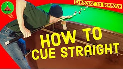 Snooker Straight Cueing Exercises to Improve