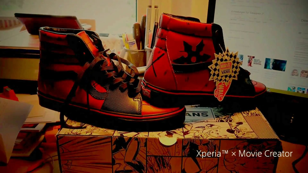 c5d3b1053e7e3 Vans x Marvel. #deadpool sk8-hi - YouTube