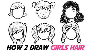 How to Draw Girls Hair In Different Cartoon Styles