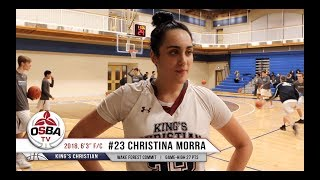 King's Christian 2018 F/C Christina Morra talks post game and commitment to Wake Forest