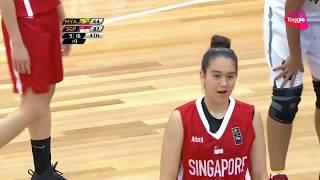 Ariel Loiter Career High 22 Points Highlights 8/10 Fg | Singapore Vs Myanmar | 2017 Sea Games