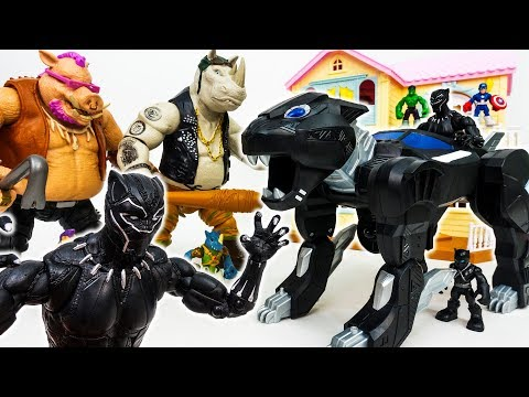 You Are Not Invited To The Avengers Party~! Gp Black Panther Jet Vehicle - ToyMart TV