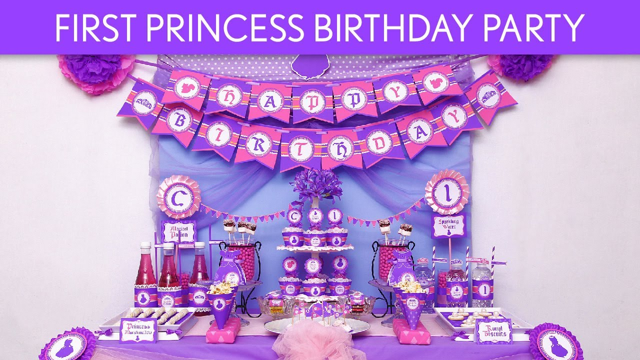 First Princess Birthday Party Ideas B85 You