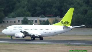 Air Baltic Boeing 737-522 (classic aircraft) YL-BBQ arrival at Berlin Tegel airport
