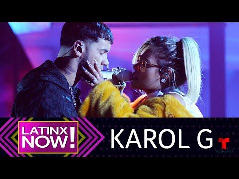 Entrevista: Karol G afirma que no hay competencia con su novio Anuel AA | Latinx Now!