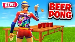 *NEW* BEER PONG Custom Gamemode in Fortnite Battle Royale