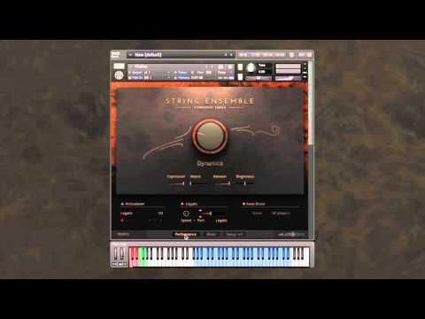 Symphony Series - String Ensemble: Setup page