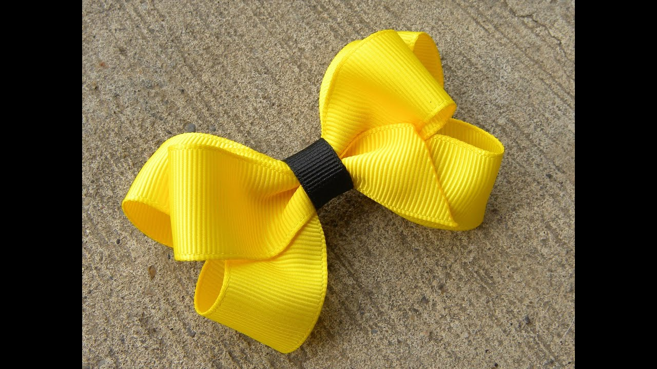 How to make a six loop boutique hair bow tutorial by just add a how to make a six loop boutique hair bow tutorial by just add a bow youtube baditri Image collections