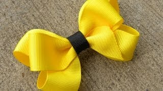 Repeat youtube video HOW TO: Make a Six Loop Boutique Hair Bow Tutorial by Just Add A Bow