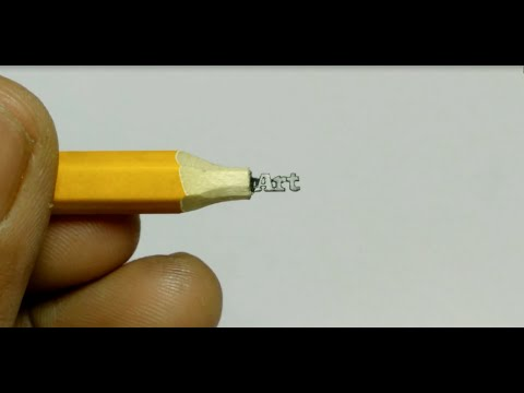 Pencil carving art carving text art on pencil lead youtube