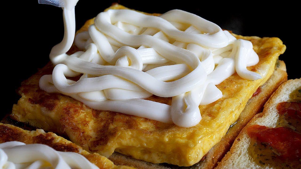 퐁듀 치즈 토스트 / egg fondue cheese toast - korean street food