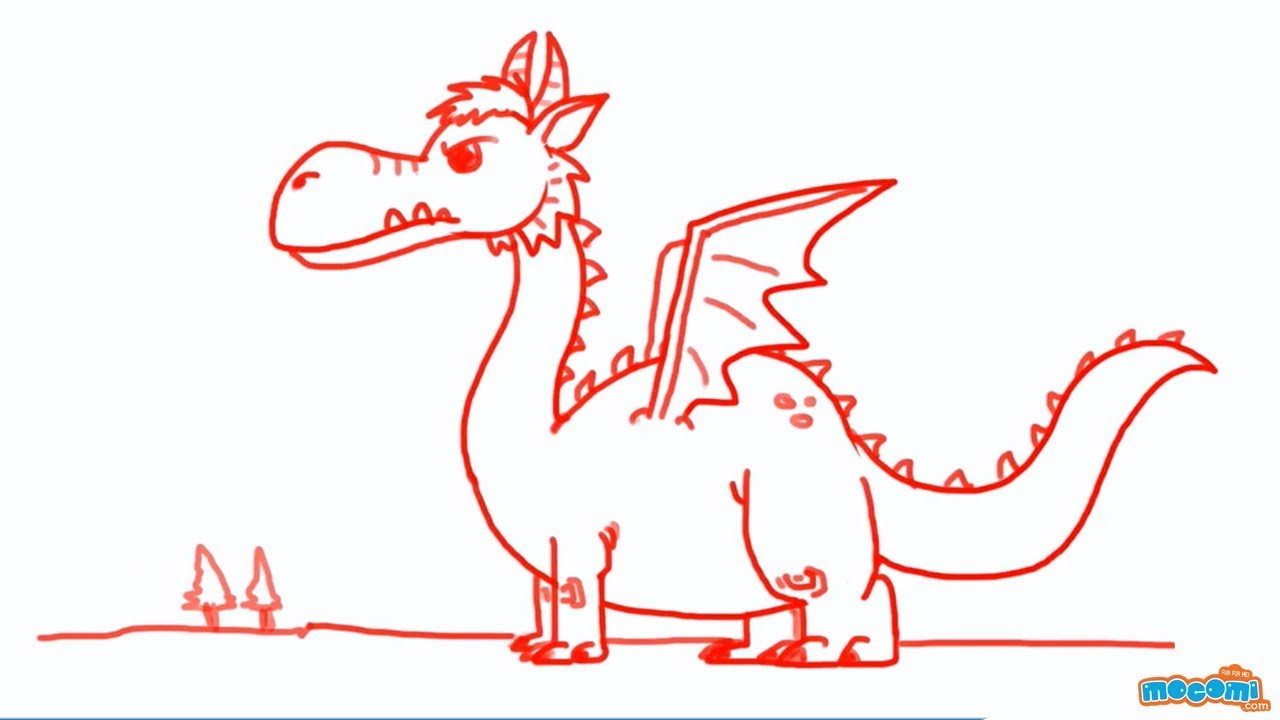 how to draw a dragon video