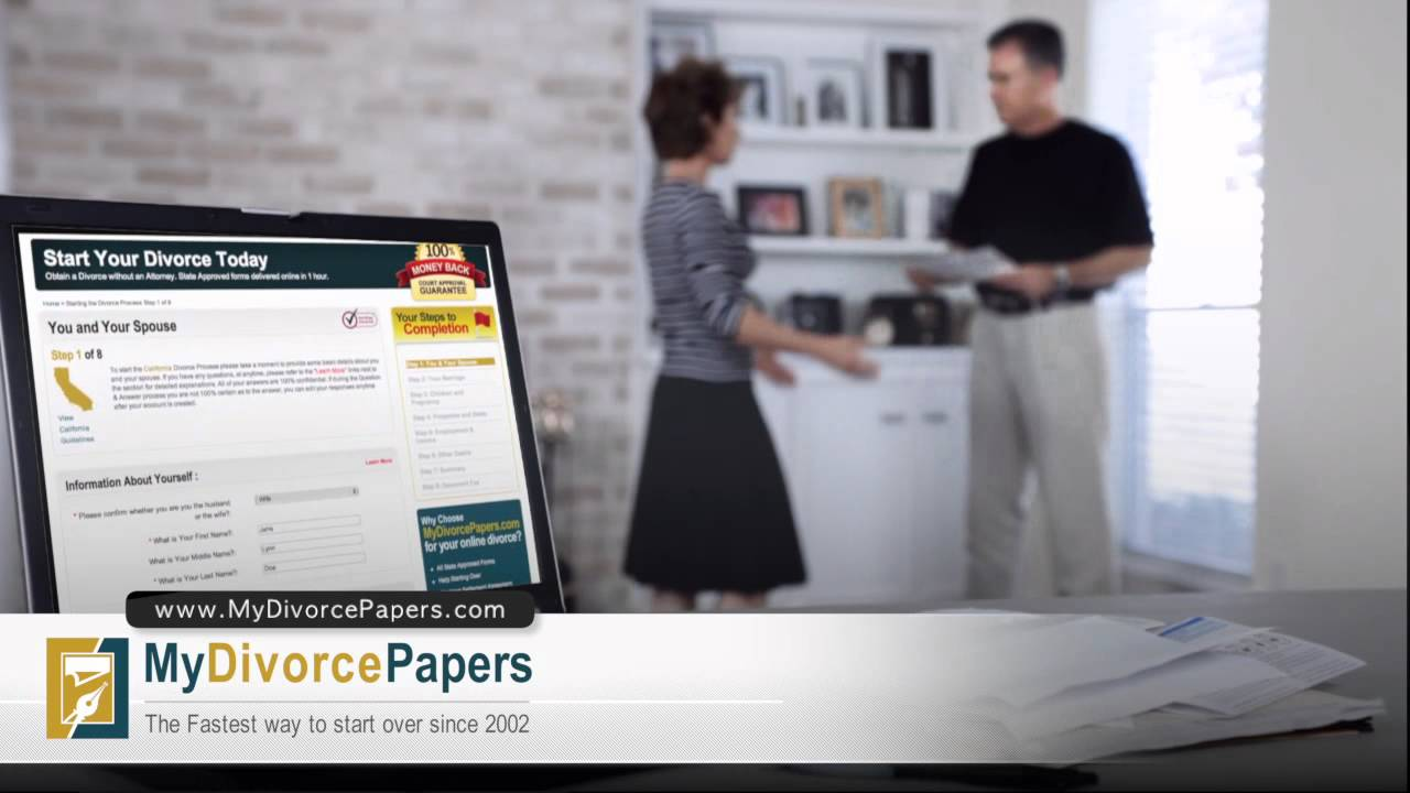 Online divorce forms service at mydivorcepapers youtube solutioingenieria Choice Image
