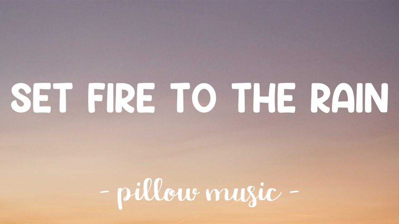 Download Set Fire To The Rain - Adele (Lyrics) 🎵