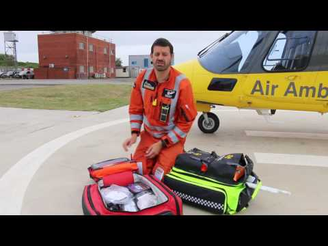 What's in an air ambulance? The kitbags