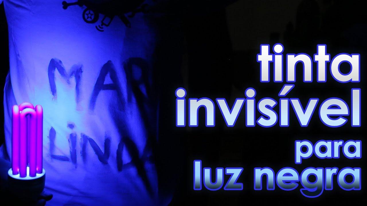 c8fea9539d1fc TINTA INVISÍVEL PARA LUZ NEGRA (EXPERIÊNCIA) - YouTube