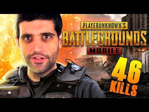 RECORD de KILL no PUBG MOBILE, 46 KILLS! Joguei MUITO - Battle Royale grátis para celular