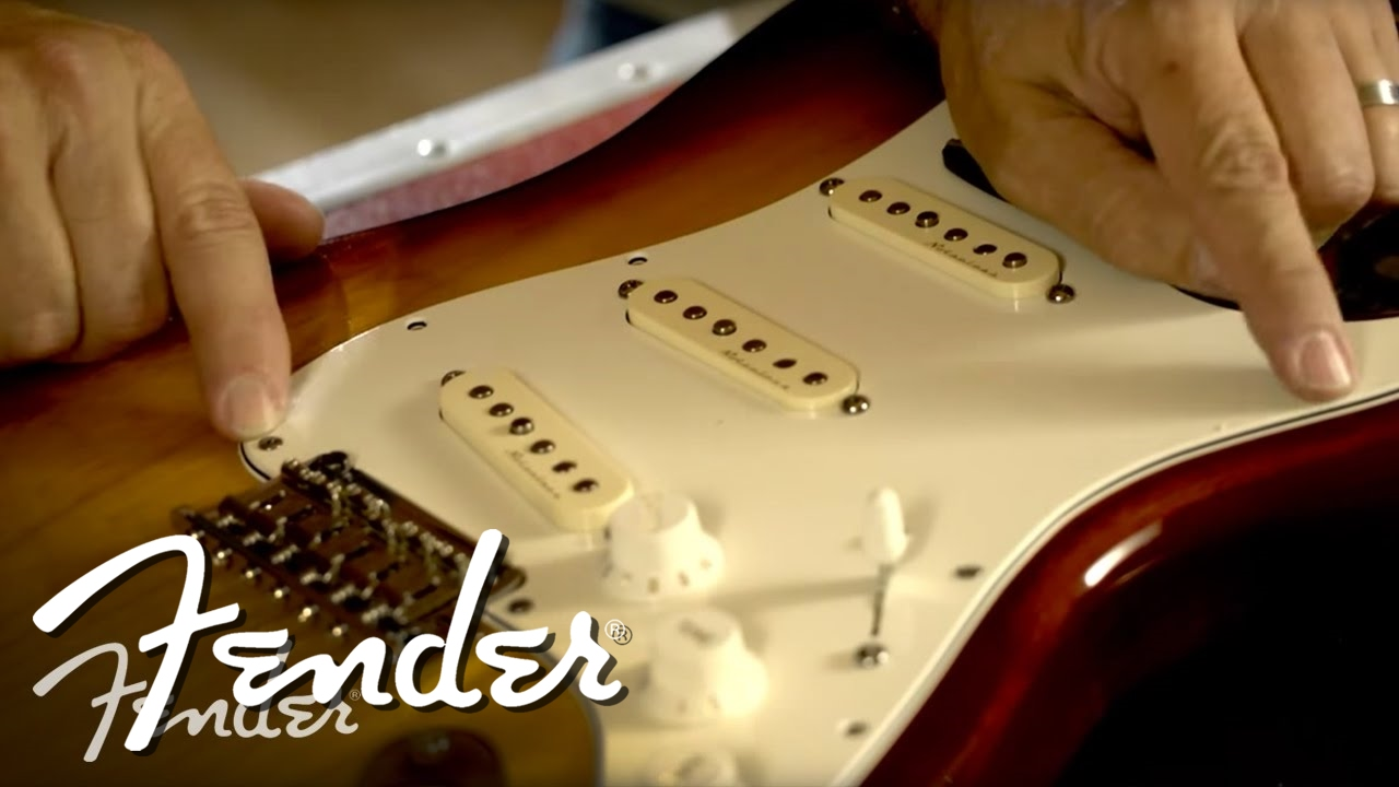 how to install a new fender pickguard and output jack fender [ 1280 x 720 Pixel ]