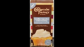The Cheesecake Factory At Home: Vanilla Cupcakes with Frosting Mix – Preparation & Review