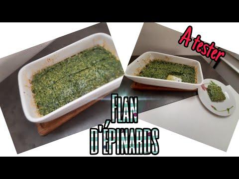 ❤-recette-du-flan-d'épinards- -idée-recette