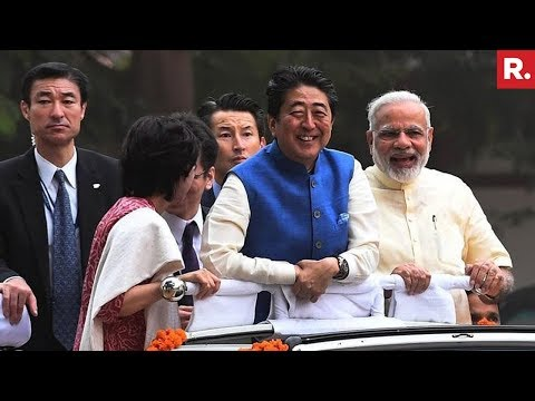PM Modi And Shinzo Abe's Roadshow In Ahmedabad