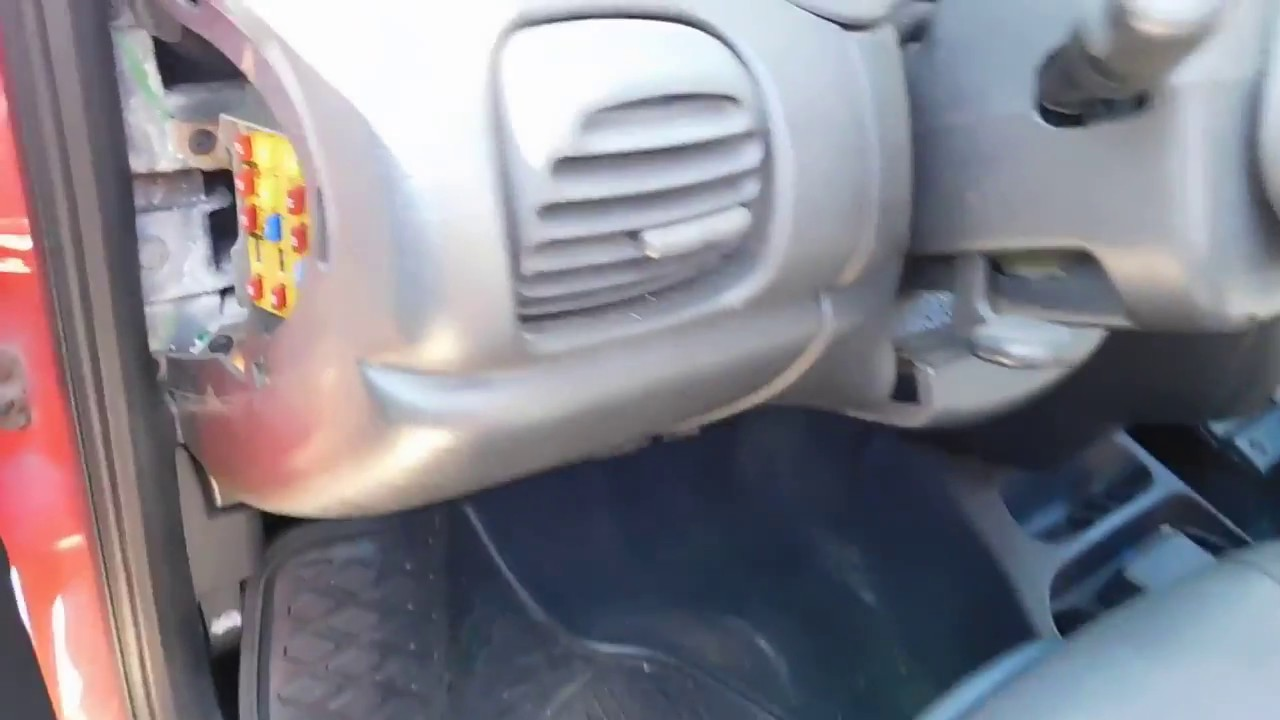 Dodge Neon 2000 2005 Fuse Box Location and Diagram  YouTube