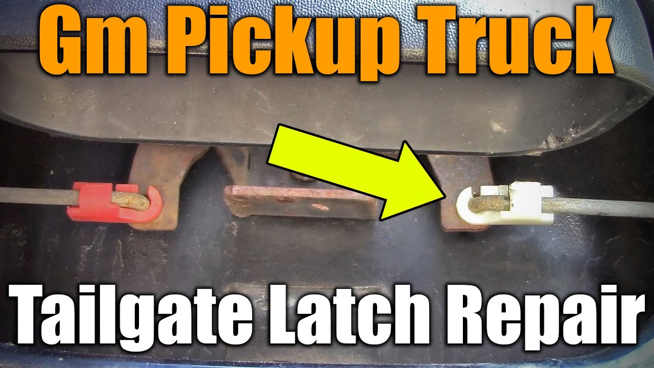 2017 Chevy S10 >> 1999-2007 GM Tailgate Latch Repair - YouTube