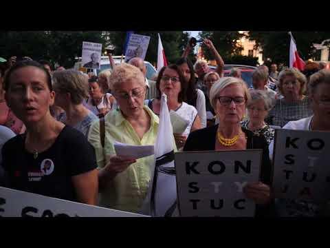 Manifestacja Przed Sądem Rejonowym W Szczecinie - 23 Lipiec 2018