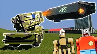 LEGO MISSILE LAUNCHER DESTROYS HUGE AIRSHIP! - Brick Rigs Gameplay - Lego City Destruction