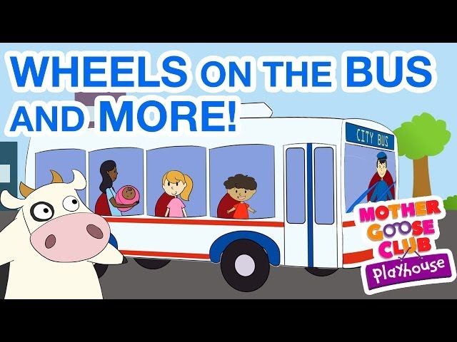 Wheels on the Bus and More - Kids Cartoon Collection Travel Video