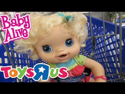 BABY ALIVE Outing To Toys R Us With Emily Baby Alive!