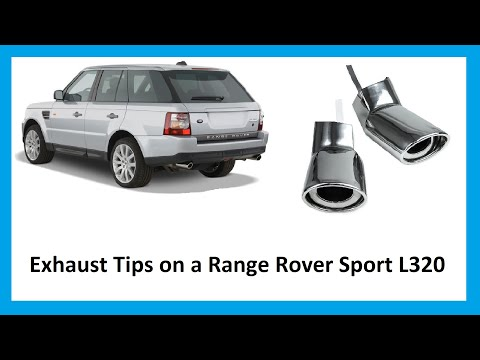 How To Fit Exhaust Tips To Range Rover Sport Diesel