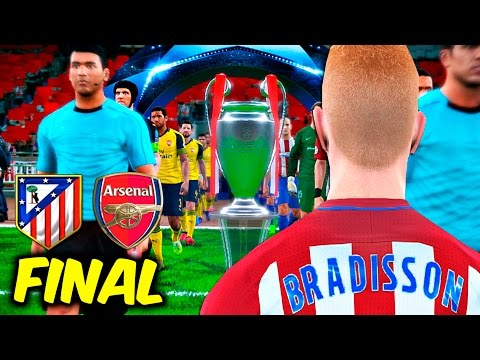 FINAL CHAMPIONS LEAGUE Atlético de Madrid vs Arsenal | PES 2017 BAL #93