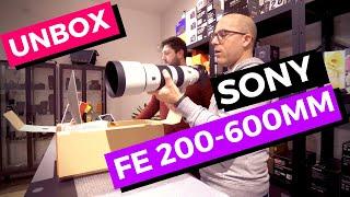 SONY FE 200-600 F/5.6-6.3 G OSS. Unbox e prime impressioni.