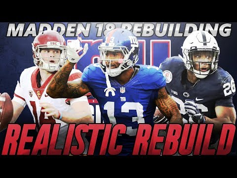 Madden 18 Connected Franchise | New York Giants Realistic Rebuild | GIANTS DRAFT SAQUON BARKLEY!