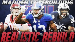 Madden 18 Connected Franchise | New York Giants Realistic Rebuild | GIANTS DRAFT SAQUON BARKLEY! 2017 Video
