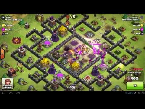 Clash Of Clan- Gowipe Attack Using Jump Spell