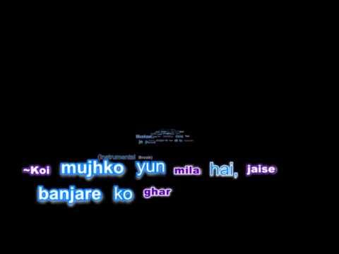 Banjara karaoke with lyric