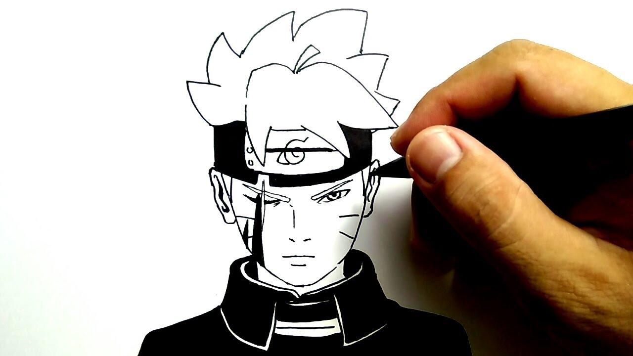Cara Menggambar Boruto Gampang Sekali How To Draw Boruto Very Easy