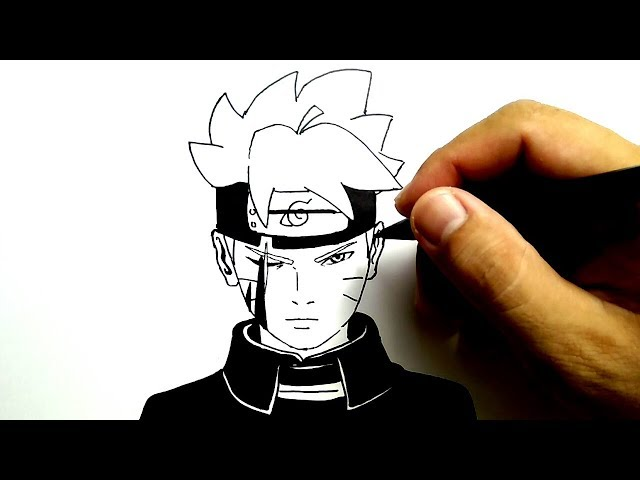 cara menggambar boruto gampang sekali / how to draw boruto very easy
