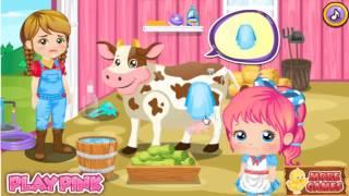 мультики и игры ферма Алисы, помой животных