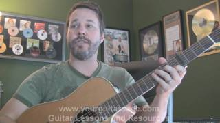 Go to http://yourguitarsage.com/ find out how get a free guitar ebook that will have you playing today!!! this lesson vid shows t...