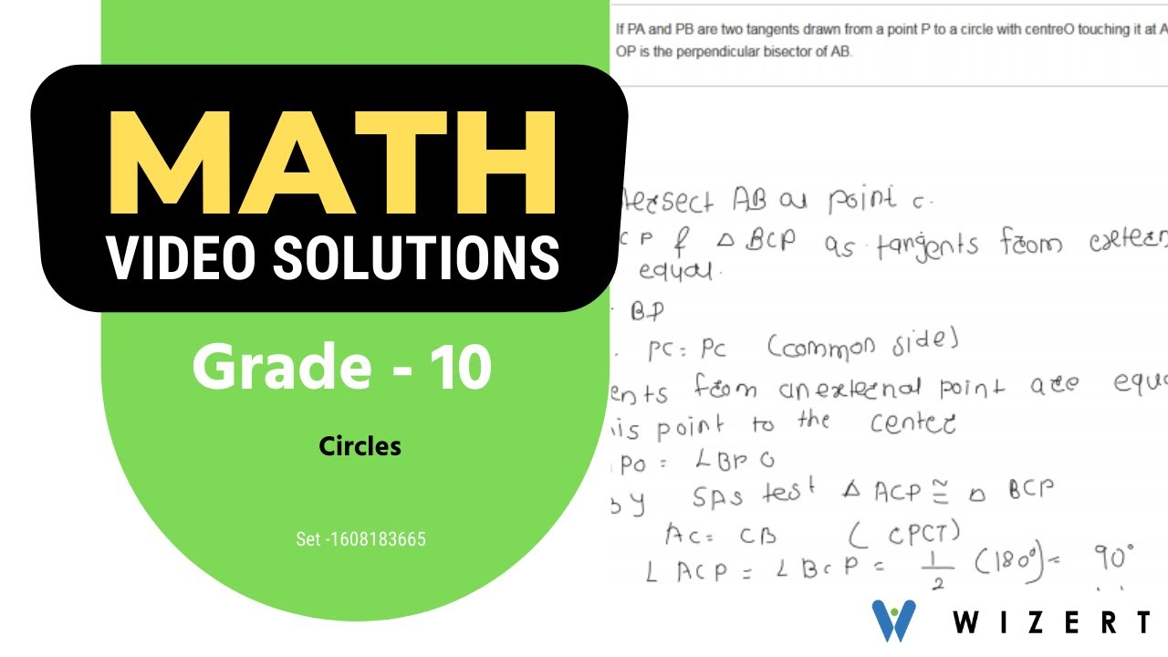 Grade 10 Mathematics Word Problems - Math Circles word problems for Grade 10  - Set 1608183665 - YouTube [ 720 x 1280 Pixel ]