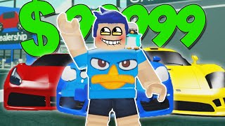 BUY ALL THE BEST CARS!! 😱🚗 *the most expensive* $999999 in ROBLOX ROLEPLAY
