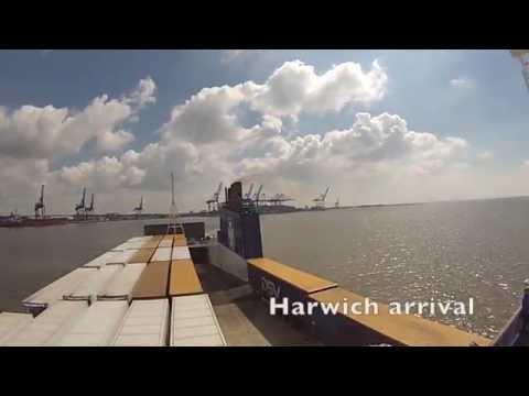 Sirena Seaways sidste tur på Esbjerg Harwich ruten 29 september 2014