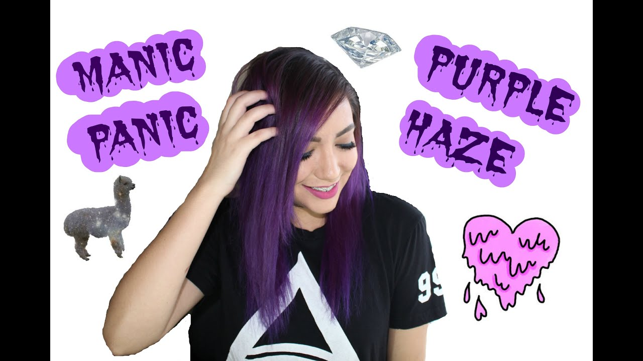 Dying My Hair With Manic Panic Purple Haze Youtube