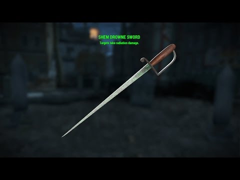 Fallout 4 Unique Weapons - Shem Drowne Sword (Radiation Blade Location)