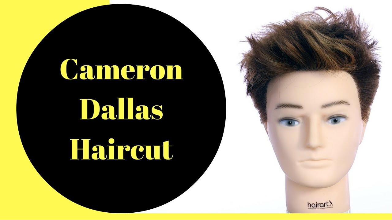 Cameron Dallas Haircut & Color - TheSalonGuy - YouTube