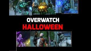 Overwatch: All NEW Halloween SKINS │Golden Weapon & Gameplay│Slasher 76. Bride. Banshee. Enchanted.